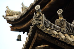 Roof tiles of the old temple (Teruhide Tomori) Tags:  kyoto  temple rooftiles japan architecture building construction tradition       toji