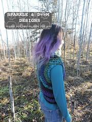 Huntress Cowl 01a (zreekee) Tags: sparkledoomdesigns saskatchewan handmade crochet canada rhiannon cowl hungergames