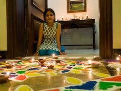 Tiya and her Rangoli (Mike Prince) Tags: artandarchitecture bangalore bengaluru diwali family frazertown holidaysandcelebrations india karnataka paintings prince rangoli tiyaprince
