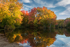 Fall in New England (John Clay173) Tags: pond newengland ct vernon foliage fall jclay reflection