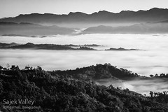 Peaceful and Quite (Numbplug) Tags: mountains valley sajek morning mist clouds skyline lines bnw bangladesh beautiful blackandwhite blackwhite canon patterns sunlight sun