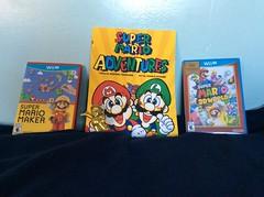 New Super Mario Bros. Stuff (WilliamPSullivan) Tags: nintendo mario luigi peach toad mushroom kingdom wii u comic book video game franchise amiibo figure