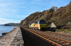 70807 (Teignstu) Tags: teignmouth devon seawall railway colas class70 70807 rail