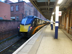Grand Central Trains 180105 1A67 1433 Bradford - Kings Cross.  Doncaster.  11th November 2016 (Ajax46.) Tags: doncaster 180105 grandcentraltrains 11thnovember2016 1a671433bradfordinterchangetolondonkingscross
