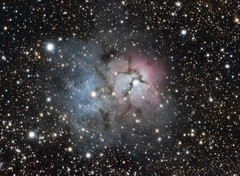M20 - Trifid Nebula (from 382mm fl) (Andrew Klinger) Tags: