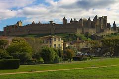 cit carcassonne (AbdelHadef) Tags: carcassonne cit pont bridge medieval medievale city castle chateau