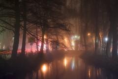 Fog in Buxtehude (PauliMatze) Tags: fog nebel langzeitbelichtung lichter farben color colorful colour colourful nightshot night nacht nachtaufnahme buxtehude lowersaxony niedersachsen deutschland germany
