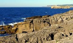 Azul y gris (alfonsocarlospalencia) Tags: isla de mouro santander cantabria azul gris faro rocas texturas horizonte olas palacio la magdalena luz paraso lneas colores contraste