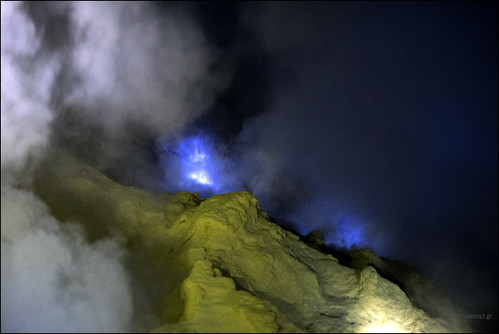 2 August 2016: Volcano Ijen, Java, Indonesia.