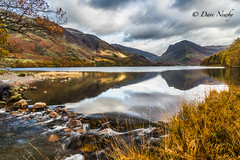 View from a stream (davenewby123) Tags: crummockwater buttermere gatesgarth lakedistrict autumn neutraldensityfilter outdoor davenewby water oldcottage plant foliage serene landscape mountain tree field hill sky mountainside