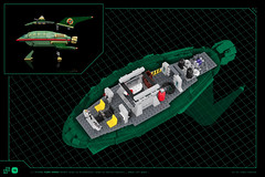 LEGO® Planet Express - features (Nicola Stocchi) Tags: lego futurama planet express ship update space spaceship minifig minifigure zannastic
