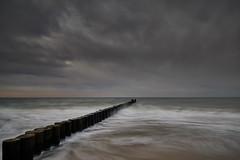 smoothed ~ geglttet (Froschknig Photos) Tags: smoothed ~ geglttet ostsee baltic balticsea khlungsborn wind wellen wave waves buhnen himmel sky wolken clouds graufilter
