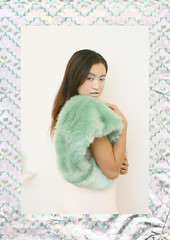Gleam (Frances Sousa) Tags: pastel holographic fashion faux fur mint green pink editorial pretty