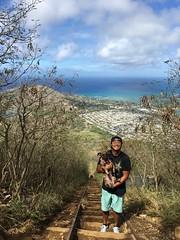 charley & kevin (peakintheclouds) Tags: dog hike trail kokohead kokoheadcrater hawaii oahu honolulu cardio workout