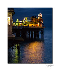 The end of the pier (Explored) (hehaden) Tags: pier brightonpier palacepier helterskelter sea reflection light seaside brighton sussex