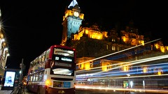 nightbus through Edinburgh take two (lunaryuna) Tags: capital scotland edinburgh citylights night nocturnal nightlights nightphotography nocturnlphotography nocturnalphotography lighttrails nightbus le longexposure lunaryuna walkinthecity urban city