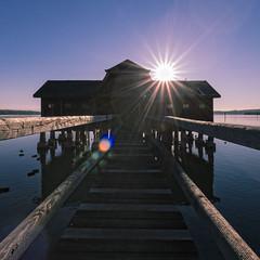 Ammersee (Martin Zurek) Tags: innig ammensee bayern see lake sun rays house water landscape distagon distagont2815 ze canon 5dsr deutschland germany stegen inning