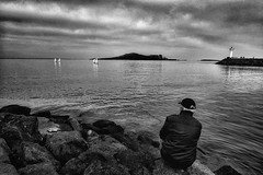 Just Fishing...... Howth Harbour, Ireland (marksedgwick55) Tags: seascape composition landscape chilling ireland harbour dublin pier watching fisherman clouds sky cam sea sailing relaxing fishing howth