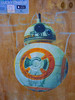 This is One of the Lucky Ones (Steve Taylor (Photography)) Tags: bb8 beebeeate droid starwars theforceawakens art graffiti pasteup wheatup wheatpaste streetart blue orange white mauve violet plywood poster newzealand nz southisland canterbury christchurch city cbd dome ball robot