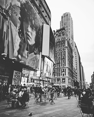 Busy day in Time Square (Jonah Mark Avila) Tags: newyork timesquare blackandwhite travel wanderlust canon 600d us street monochrome outdoor architecture