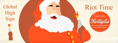 IT'S RIOT TIME! (Yelena Maria Drinkie) Tags: riot riottime christmas babbonatale natale santaclaus grafica illustrazionedigitale illustrazione illustration robadagrafici