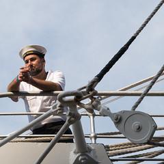 I'll come back (Ooks Doggenaar) Tags: portugal netherlands amsterdam nikon colombia ship ships ngc arc gloria sail ij sagres