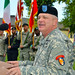 Brig. Gen. Kenneth H. Moore, Jr., participates in U.S.  Army Africa patch ceremony