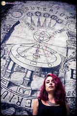 Aude_Internet_BD-10 (Au Fil Des Caprices (photographer & model)) Tags: portrait rouge chaos crane couleurs femme du yeux aude cheveux demeure verts
