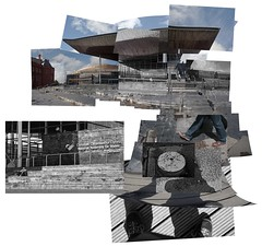 National Assembly for Wales (Pano) (pigpogm) Tags: shadow building feet wales architecture cardiff selfie nationalassemblyforwales pigpogm panograph