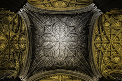 The Art Above (chrislandyramirez) Tags: church architecture spain europe catholic cathedral gothic seville ceiling
