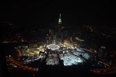 تصوير جوي ليلي لمسجد الحرام (ralmabiriek) Tags: تصوير السعودية مكة الكعبة جوي