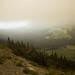 Fumaça de queimadas no Glaciar NP