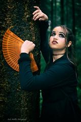 _DSC5692-web-res (jazzmatezz) Tags: holland tree netherlands pose forrest nederland posing boom bos hutan staan wanita bossen nuenen pohon poseren waaier chinesefan belanda cewek steunen berdiri omhoogkijken schnitzeljacht indonesianpose