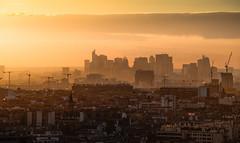 La Défense (Julianoz Photographies) Tags: sunset france building architecture buildings europe mood pollution bâtiment hdr grue idf ladéfense immeubles hautdeseine businessquarter nikond610 districtquarter julianozphotographies