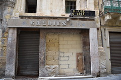 Malta October 2015 1287 (paul_appleyard) Tags: up shop october closed malta front blocked household valetta specialities 2015 bricked galdies