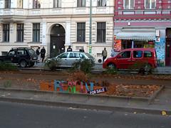 Berlin for sale (onnola) Tags: berlin kreuzberg germany deutschland forsale sale protest gentrification gwb imbiss guesswhereberlin guessedberlin gentrifizierung gwbschlafauto