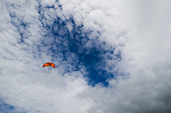 Kite in the sky (oabo) Tags: sea sky kite beach nikon kiteboarding kitesurfing kiting solastranda