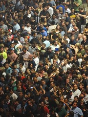 Crowd waiting for the U2 concert at the United Center, Chicago IL 6/28/2015 7:02PM (Craig Walkowicz) Tags: people u2 concert audience crowd group gathering bunch mass spectators throng ccw innocenceexperiencetour