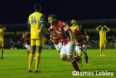 Hyde United 3-2 Colwyn Bay (KickOffMedia) Tags: park england game net sports senior loss field sport club ball manchester bay stand football goal referee shoot play shot post cheshire kick terrace stadium soccer united north atmosphere ground player hyde staff points friendly fields match pitch kickoff fans draw manager northern fc score premier spectator tackle league throw penalty midfielder fa supporters grassroots striker defender ewen skill goalkeeper keeper stadia colwyn nonleague linesman manchesterfootball