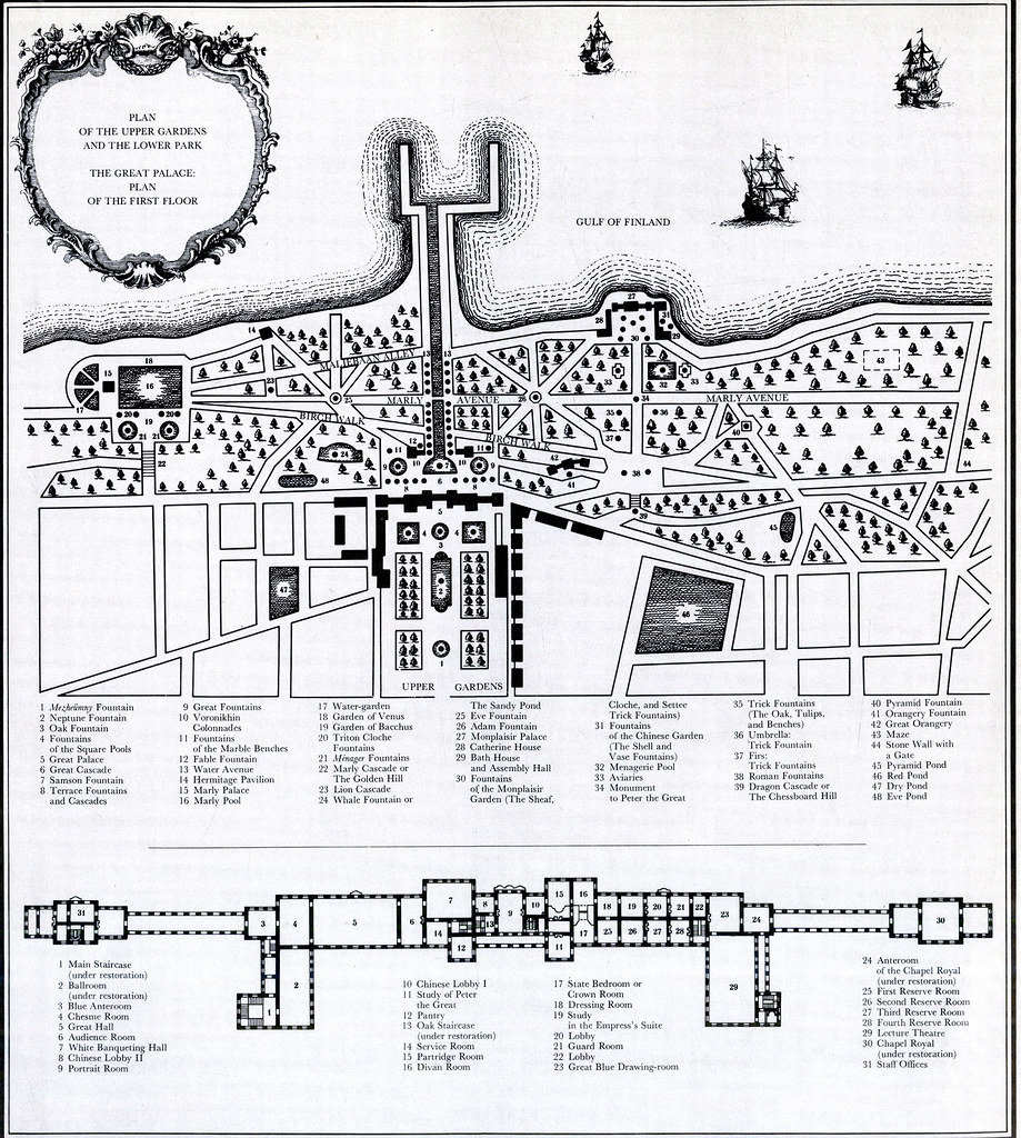 global baroque Ancient Houses peterhof palace