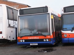 Centrebus 772 Thurmaston (Guy Arab UF) Tags: city nottingham buses yard leicester transport footpath excel withdrawn 772 556 optare thurmaston centrebus l1180 fd51eyy