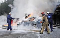Bil i full fyr (If Skadeforsikring) Tags: brann omif