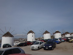 Los molinos de viento. Chora. Isla de Mikonos. Grecia (escandio) Tags: grecia chora mikonos 2015 cicladas islademikonos