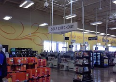 Marketplace style self-checkout (l_dawg2000) Tags: new food usa café retail toys clothing unitedstates ar jewelry bakery marketplace arkansas produce grocerystore grocery throwback apparel delicatessen kroger jonesboro 2014 formermallsite marketplacedécor