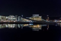 Oslo Opera house (cpphotofinish) Tags: ocean blue autumn light sky urban panorama color colour reflection fall water weather yellow oslo norway night clouds canon outside eos bay norge photo reflex opera foto nightshot image outdoor mark tourist panoramic norwegian nightlight fjord nordic usm dslr scandinavia bilder vann oslofjord bluelight kaia oslofjorden høst bilde norske farger mk3 turist osloharbour canonef ef24105mmf4lisusm visitnorway oslooperahouse havnelageret carstenpedersen canonmkiii mklll visitoslo oslohavnelager eos5dmk3 oslobay cpphotofinish canonredlable dslroslofjordfjord