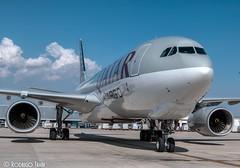 QATAR AIRWAYS CARGO. Airbus A330-243F. A7-AFJ (Rodrigo Tran Corts) Tags: spotting zaragoza qatar