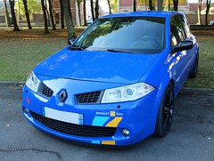 RENAULT Mgane RS (xavnco2) Tags: amiens somme picardie rassemblement lahotoie autos automobile cars car meeting club arpaa octobre 2016 renault bleue blue mgane rs renaultsport