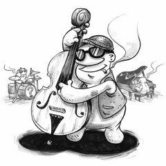 The Cello (Question Josh? - SB/DSK) Tags: sketch sketchbook doodle drawing ink inktober cello music jazz band loteria josh