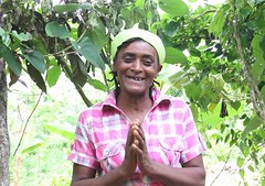 2016 Oct - Luciana coffee farmer (Foods Resource Bank) Tags: haiti caribbean coffee farmers men women pruning improved income humanitarian food security development charity hunger