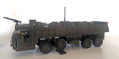New rubber band suspensions (John Lamarck) Tags: lego sluban mega bloks bricks missile truck jeeo military war